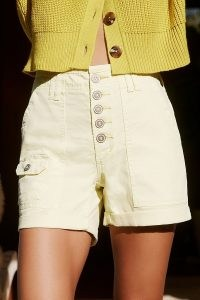 Wanderer Denim Shorts Canary | spring colours | yellow