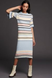 ANTHROPOLOGIE Roberta Midi Sweater Dress / knitted dresses / feminine knitwear