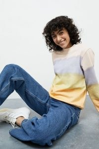 ANTHROPOLOGIE Kendal Striped Sweatshirt / tie dye colour block sweatshirts