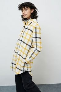 BB Dakota Eldridge Plaid Shirt Jacket / yellow checked shackets / longline check shacket