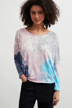 Chaser Tie-Dye Waffle Top Pink - flipped