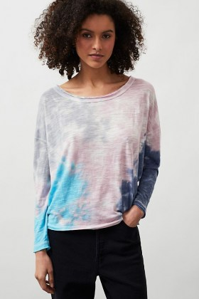 Chaser Tie-Dye Waffle Top Pink