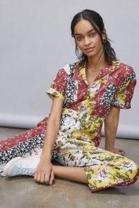 dRA Jasmine Floral Patchwork Jumpsuit Assorted / mixed flower print jumpsuits