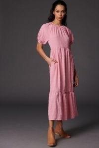 Ro&De Tiered Maxi Dress Pink
