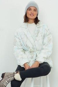 BlankNYC Bennie Tie-Dye Puffer Jacket / padded jackets