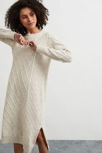 ANTHROPOLOGIE Molly Cable-Knit Midi Dress / knitted sweater dresses