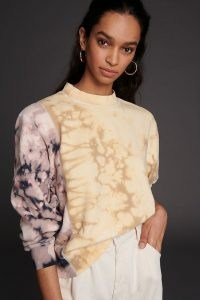 ANTHROPOLOGIE Lumi Tie-Dye Sweatshirt / colour block sweatshirts