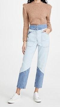 Ba&sh Apolo Jeans | colour block denim