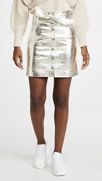 Ba&sh Pomy Skirt | gold mini skirts