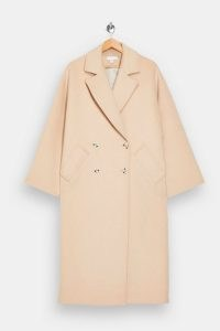 TOPSHOP Beige Double Breasted Coat ~ classic winter coats ~ neutral outerwear