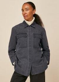 WHISTLES MASIE DENIM OVERSHIRT / casual organic cotton shirts