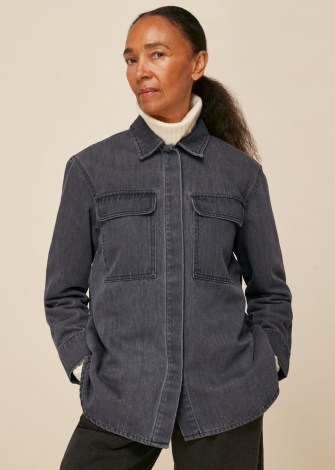 WHISTLES MASIE DENIM OVERSHIRT / casual organic cotton shirts