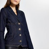 River Island Blue long sleeve denim blazer | casual jackets