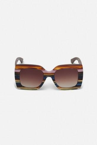 gorman BOWIE SUNGLASSES / square retro sunspecs / vintage style eyewear - flipped