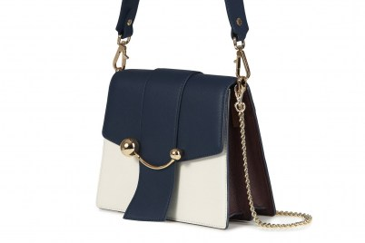 BOX CRESCENT NAVY/VANILLA/BURGUNDY | chic colour block bags - flipped