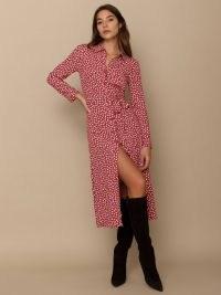 REFORMATION Brighton Dress / floral shirt dresses