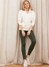 Baukjen Brooklyn Organic Zip Sweatshirt Soft White / sweat tops