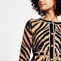 River Island Brown tiger print cardigan | animal patterned cardigans