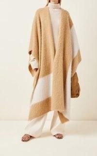 Joseph Brushed Alpaca-Blend Kaftan | luxe longline capes | luxury wraps