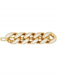 Burberry chain-link hair clip / crystal clips / accessories