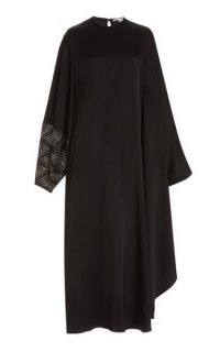 Stella McCartney Cape Dress ~ black relaxed fit occasionwear ~ draped evening dresses