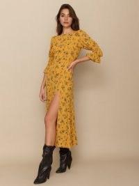 REFORMATION Carolena Dress / high split floral dresses