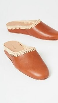 Carrie Forbes Aziz Flat Mules Cognac/Natural