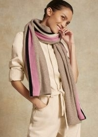 Me+Em Cashmere Throw ~ meandem accessories ~ fashion throws ~ pink and neutral scarves