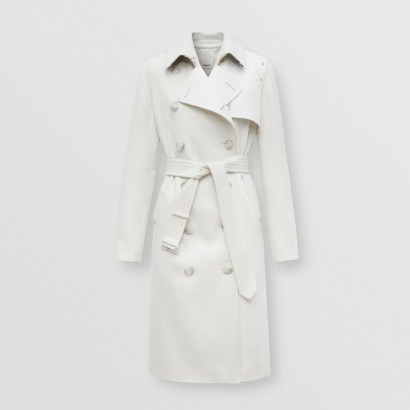 BURBERRY Cotton Gabardine Panel Cashmere Trench Coat ~ luxe classics ~ outerwear