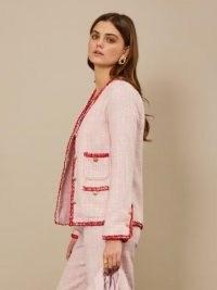 sister jane Waltzer Tweed Jacket ~ pink textured jackets