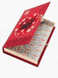 OLYMPIA LE-TAN Chinese New Year Ox-embroidered clutch – red evening bags