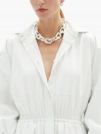 BOTTEGA VENETA Chunky chain sterling-silver choker ~ contemporary chokers ~ statement necklaces