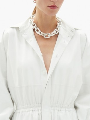 BOTTEGA VENETA Chunky chain sterling-silver choker ~ contemporary chokers ~ statement necklaces - flipped