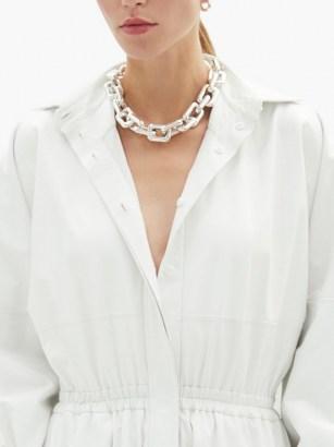 BOTTEGA VENETA Chunky chain sterling-silver choker ~ contemporary chokers ~ statement necklaces
