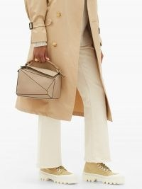 PROENZA SCHOULER City lug-sole canvas boots ~ chunky neutral ankle boot