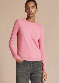 Contrast Tipping Jumper in Sugar Pink
