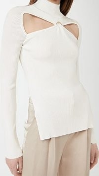 Cult Gaia Gabriella Knit Top / contemporary cut out tops