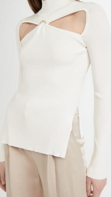 Cult Gaia Gabriella Knit Top / contemporary cut out tops - flipped