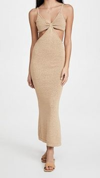 Cult Gaia Serita Knit Dress in Sand ~ glamorous knitted cut out dresses