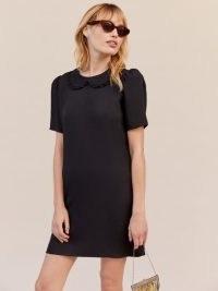 Reformation Darlene Dress   vintage style mini dresses   retro fashion   peter pan collar
