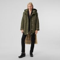 BURBERRY Detachable Hood Quilted Nylon and Cotton Parka ~ modern classics ~ contemporary parkas