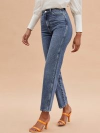 Reformation Denver Jean   blue denim   slim jeans
