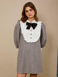 sister jane Attraction Check Mini Dress / checked vintage look dresses