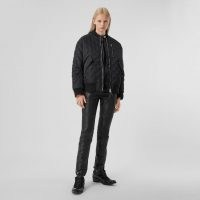 BURBERRY Diamond Quilted Nylon and Cotton Bomber Jacket ~ classic style jackets