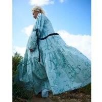 Klements Eidothea Dress In Old Neptune Print / ocean inspired prints