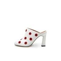 JORI PAPA Elsa Mule White & Red / floral mules