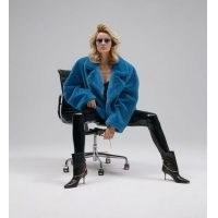 Aggi Faux Fur Gigi Azure / fluffy jackets
