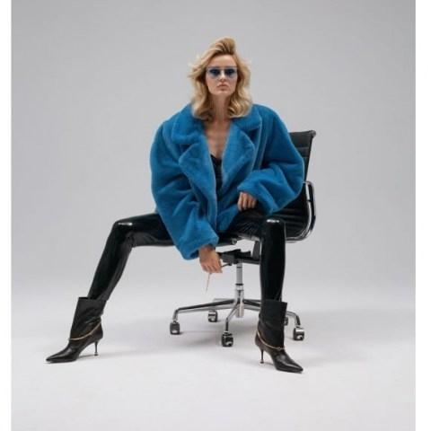 Aggi Faux Fur Gigi Azure / fluffy jackets - flipped