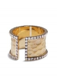 Feidt Paris 9kt yellow gold sapphire open band ring | wide luxe rings | statement bands