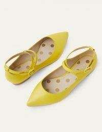 Boden Flora Flats | chartreuse lizard print flat shoes | point toe